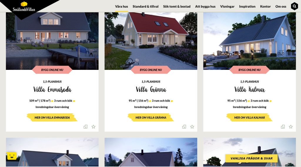 Få en tydlig översikt över alla Smålandsvillans husmodeller